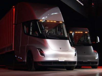 Tesla Semi Has A 500-Mile Range And Hits 60MPH In 5 Seconds