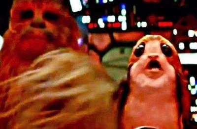 Chewbacca Punches a Porg in Latest Star Wars 8 FootageLucasfilm