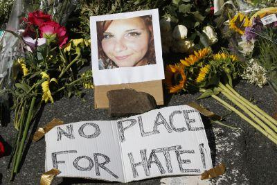 Hundreds mourn woman killed at white power rally