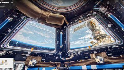 Google Maps now gives you a rare look inside the International Space Station