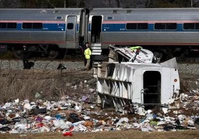 NTSB: Truck Hit By GOP Train Drove On Tracks After Gates Went Down