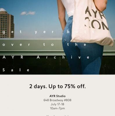 AYR 2 Day Archive Sale - July 17th - 18th - New York, NY
