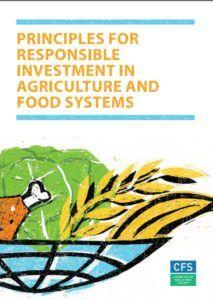 Principles for responsible international investment in food and agriculture