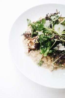 National Pinot Grigio Day: Barley Risotto with Wild Mushrooms and Peas