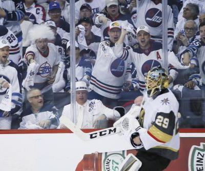 Jets draw first blood against Golden Knights
