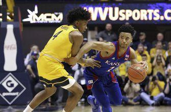 No. 3 Kansas scores final 9 points, beats No. 14 WVU 58-49