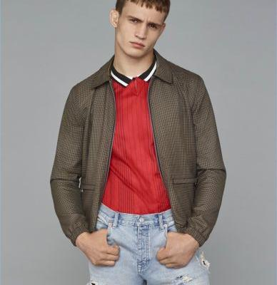 Julian Schneyder Sports Vintage-Inspired Style for Topman Fall '17 Campaign