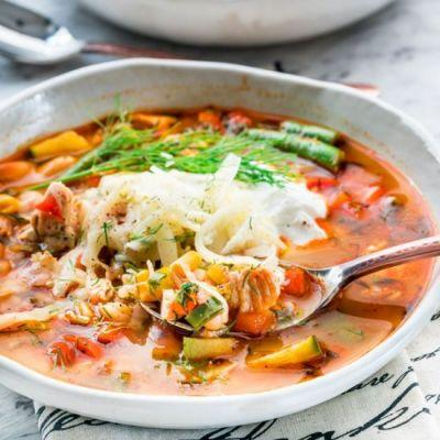 Summer Chicken Vegetable Soup