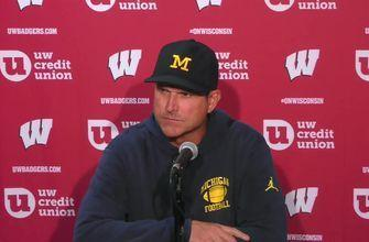 Jim Harbaugh said Michigan was 'out-played, out-prepared, and out-coached' vs. Wisconsin