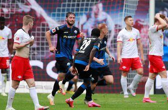Last place SC Paderborn steals two points from 3rd place RB Leipzig in dramatic fashion