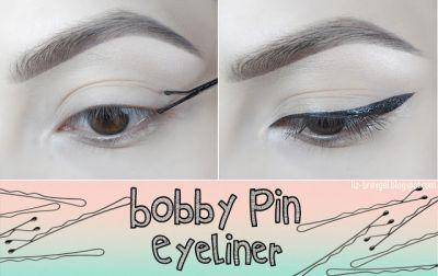Bobby Pin Eyeliner Hack Tutorial