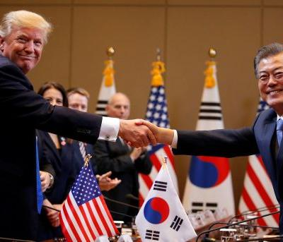 Trump signals a shift in South Korea - and it looks like his 'fire and fury' threats were just a bluff