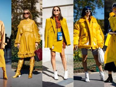 The Fashion Crowd Was All About Mustard Yellow on Day 3 of Paris Fashion Week