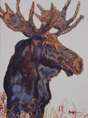 "Contemporary Western Wildlife, Art Painting ""Modifier"" by Contemporary Animal Artist Patricia A. Griffin"