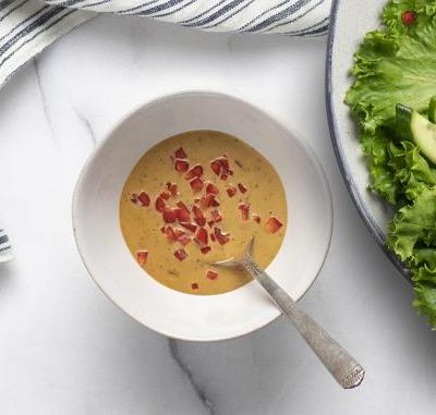 How to make The Healthy Cook's peanut dressing