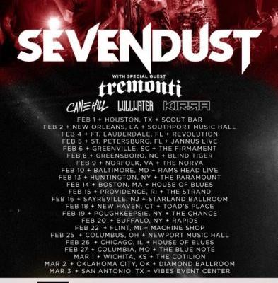 SEVENDUST Announces Early 2019 U.S. Tour With TREMONTI