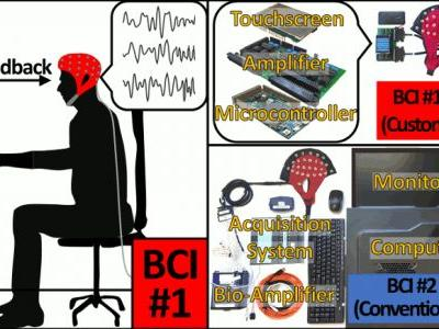 Performance Assessment of a Custom, Portable, and Low-Cost Brain-Computer Interface Platform