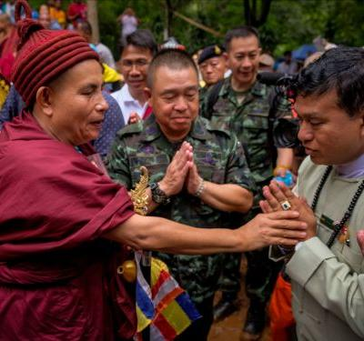 Coach helped trapped Thai boys survive inside flooded cave - by teaching them Buddhist meditation