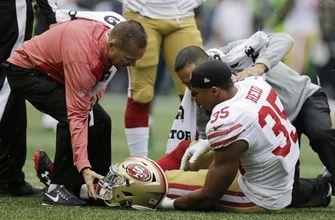 49ers S Eric Reid sidelined with left knee injury