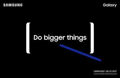 Samsung will announce the Galaxy Note 8 on August 23