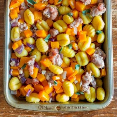 Roasted gnocchi & butternut squash