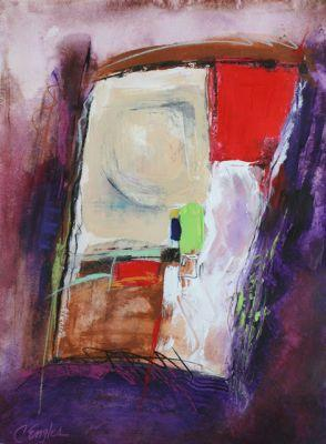 View Through a Window, Five, abstract painting by Carol Engles
