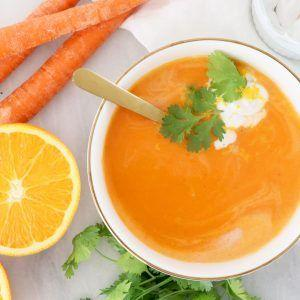 CREAMY ORANGE CARROT SOUP