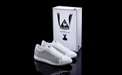 Guerlain collaborating with Le Coq Sportif