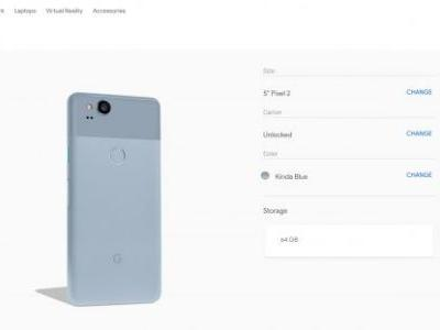Kinda Blue Pixel 2 no longer Verizon exclusive, now available from Google Store and Project Fi