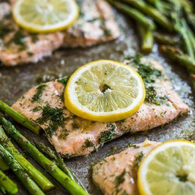 Sheet Pan Lemon Dill Salmon
