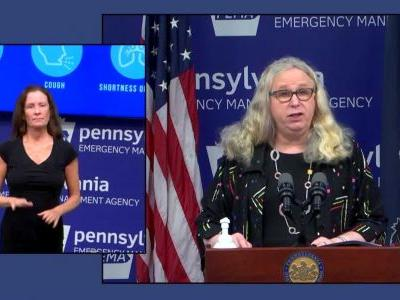 Pennsylvania Dept. of Health Secretary Dr. Rachel Levine to give update on COVID-19 Monday morning