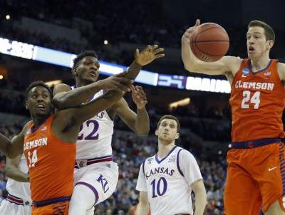 Clemson goes cold against Kansas in Sweet 16
