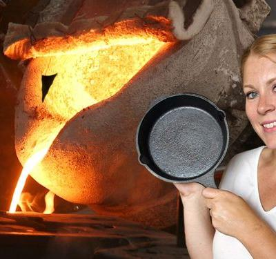 Watch: How Cast Iron Pans Are Forged