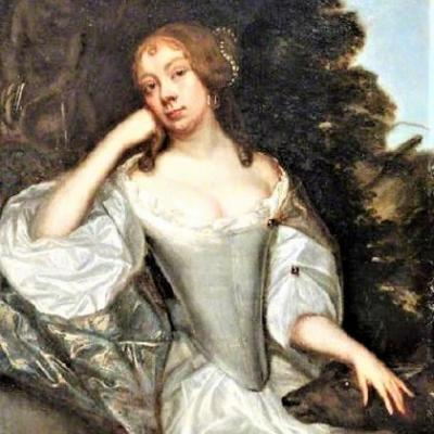 1670s Allegory of Diana Goddess of the Hunt with faithful Dog or Deer?