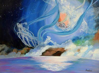 """Contemporary Seascape Painting """"Invisible Sea"""" by International Abstract Realism Artist Arrachme"""