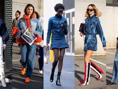 Showgoers Modeled Their Best Blue Jeans on Day 1 of Milan Fashion Week