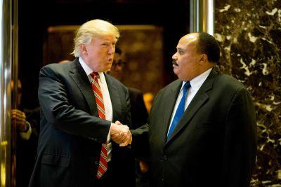 MLK's son had 'constructive' meeting with Trump