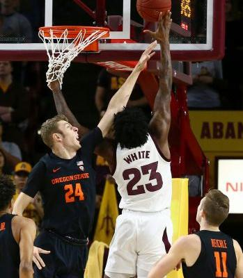 Edwards helps Arizona St hold on to edge Oregon St 70-67