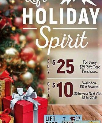 Aspen Creek Grill - Generosity Has Reached New Heights and Giving Has Never Tasted So Good! For Every $25 in Gift Card Purchases We Will Share $10 in Rewards!
