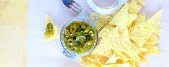 Super-quick-pickled Green Chilies !