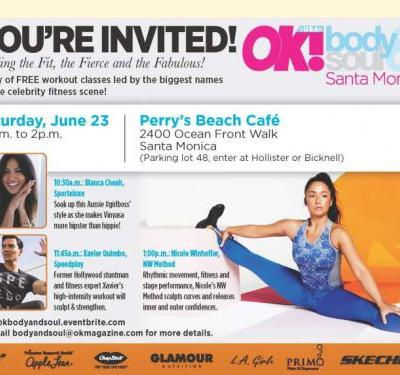 RSVP: OK! Body & Soul Event on June 23rd in Santa Monica, California