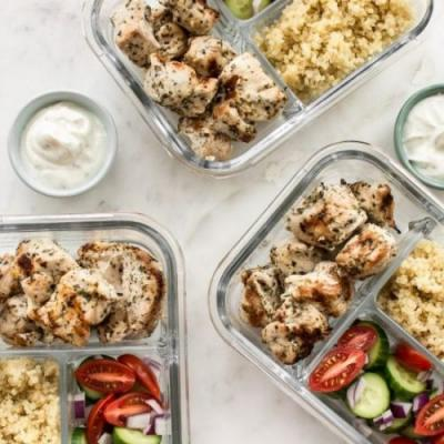 Chicken Souvlaki Meal Prep Bowls