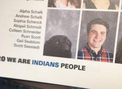 Student finds picture of dog alongside owner in school yearbook