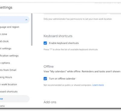 Google Calendar gets an offline mode on the web, but only for Workspace customers