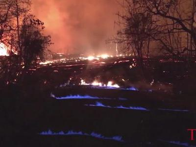 """Hawaii volcano produces methane and """"eerie"""" blue flames"""