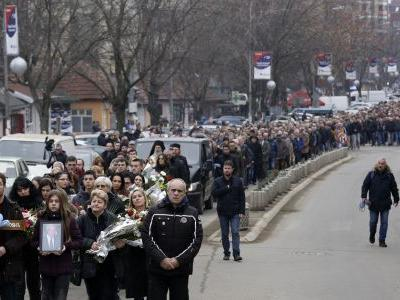 Hundreds attend funeral of slain Kosovo Serb politician