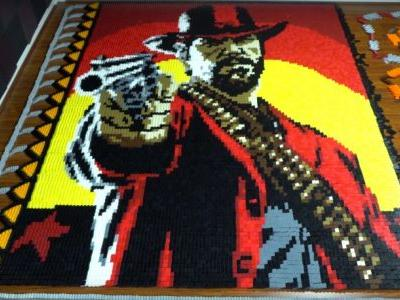 More Than 29,000 Dominoes Used In Incredible Red Dead Redemption II Tribute