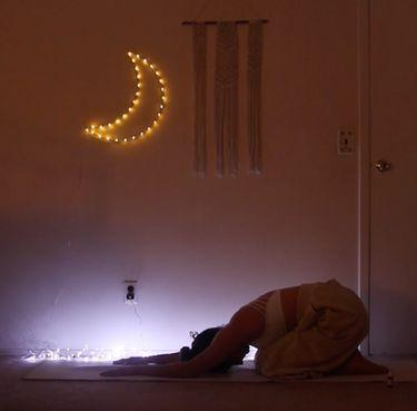 This Lunar Eclipse Yoga Flow Made Me Feel Truly Grateful For The Universe Around Me