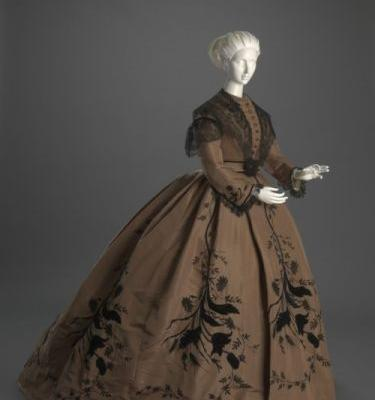 Fashionsfromhistory: Dress c.1866 Cincinnati Art Museum