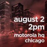 Motorola announces August 2 event, may unveil three new devices